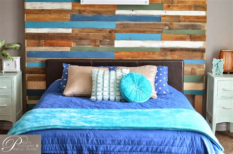 do you need a headboard remodelaholic colorful and rustic plank headboard wall