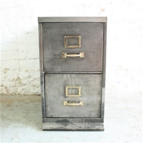Slimline Filing Cabinet by Vintage 2 Drawer Stripped Steel Slim Filing Cabinet