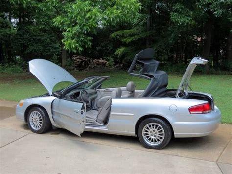 chrysler convertible models used 2005 chrysler sebring for sale 5 395 at burlington