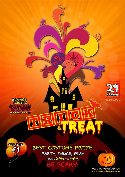 halloween templates for flyers free kids halloween flyer template free psd by silentmojo on