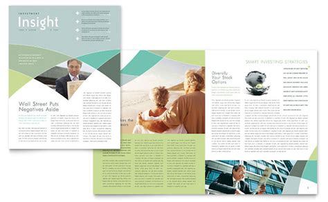 Finance Newsletter Financial Advisor Newsletter Template Design