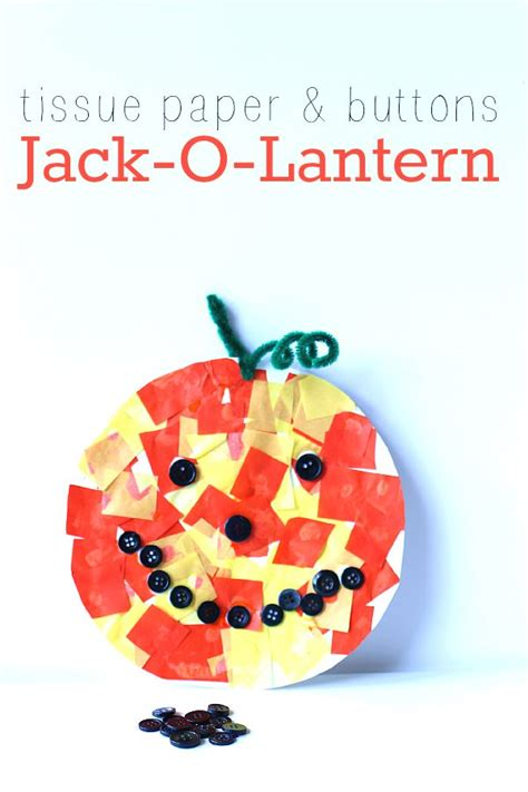 O Lantern Paper Craft - tissue paper buttons o lantern craft tissue paper