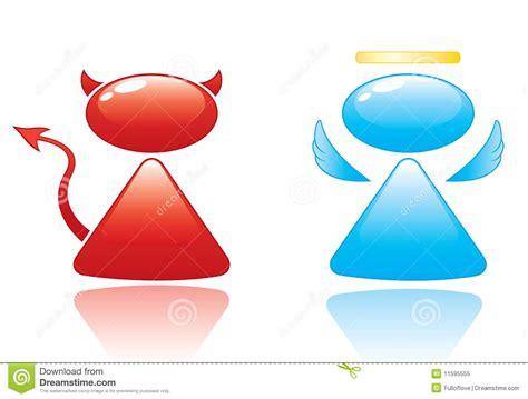 天使恶魔图标 免版税库存照片 图片 11595555