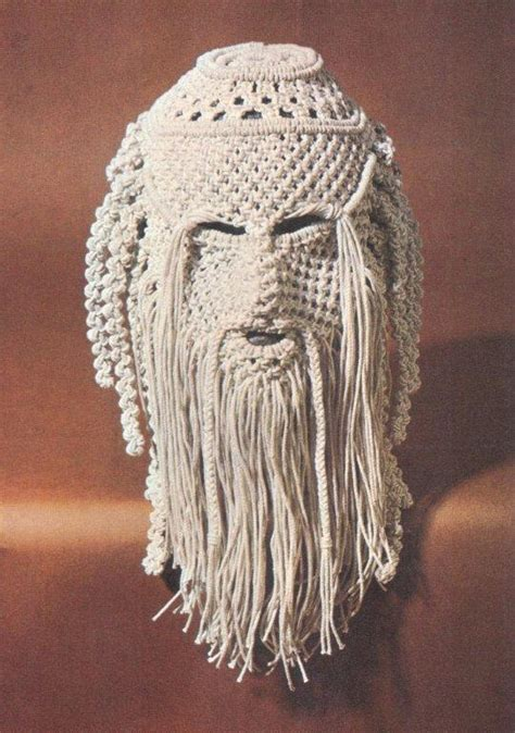 Of Macrame - bearded mask from the of macrame 1972 the