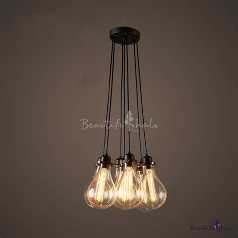 pendant cluster ceiling light with 5 industrial style cage lights industrial cluster multi light pendant in exposed edison