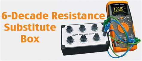 decade resistance box uses silicon chip a 6 decade resistance substitution box