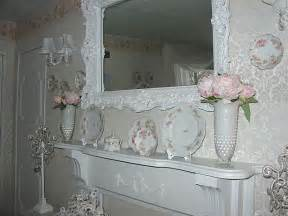 mantel of the month enchanted treasures shabby chic romantic decorating and hand painted