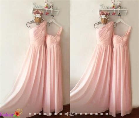light bridesmaid dress long chiffon prom dress