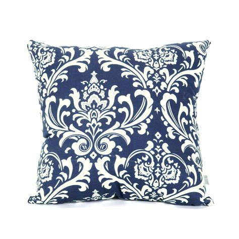 Shop majestic home goods navy blue french quarter floral square outdoor decorative pillow at