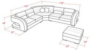 sectional sofa sizes and cool contemporary leather