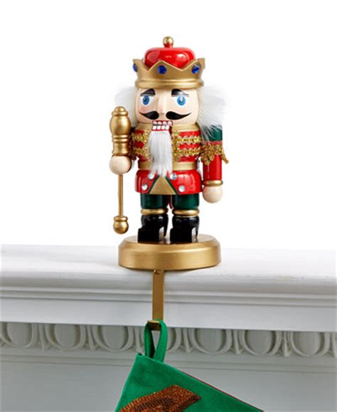 holiday lane red nutcracker stocking holder only at macy