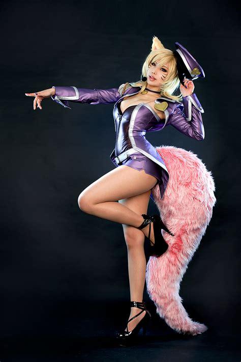 popstar ahri league  legends cosplay art  lol