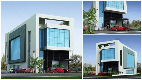 front elevation plaza tower commercial building home