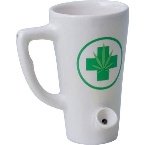 Medical Cannabis Coffee Mug Hand Pipe ? Brothers with Glass