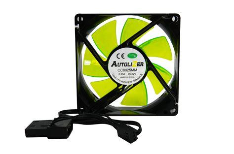 green led computer fan autolizer 80mm computer pc neon green led case fan