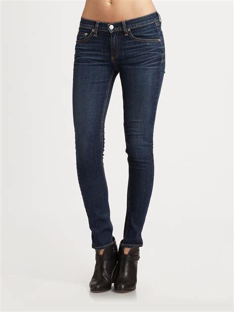 rag bone  skinny jeans  blue lyst