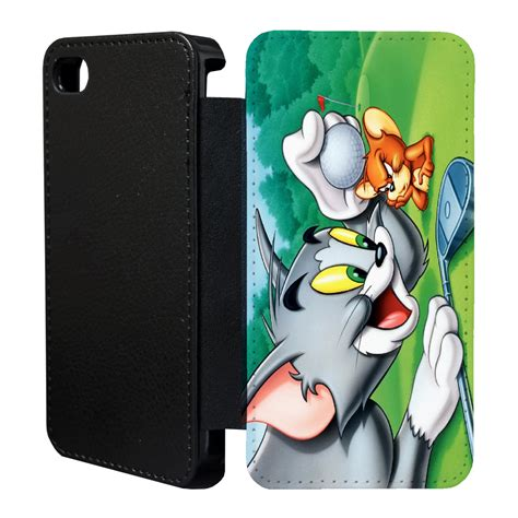 Tom And Jerry Cheese Iphone 4 4s 5 5s 5c 6 6s Plus vintage tom and jerry flip cover for apple iphone t17