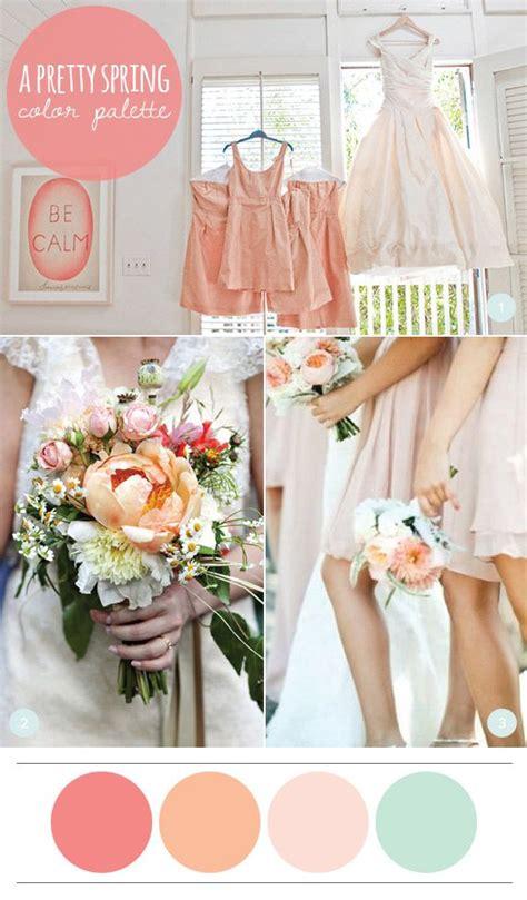 a pretty spring color palette wedding ideas spring