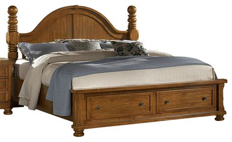 Cannonball Bedroom Furniture Vaughan Bassett Reflections King Storage Cannonball Storage Bed In Pine Traditional