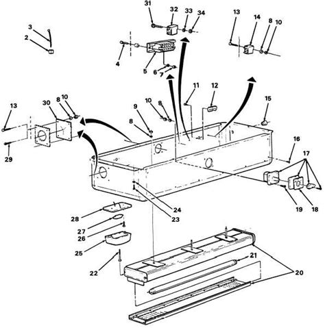 Parts Of A Fluorescent Light Fixture Fluorescent Lighting Fluorescent Light Parts Diagram Wiring Replacement Parts For Fluorescent