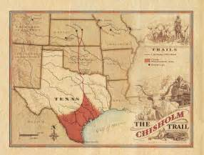 chisholm trail map chisholm trail the west