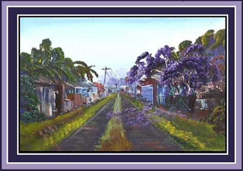 paint a jacaranda tree in a country