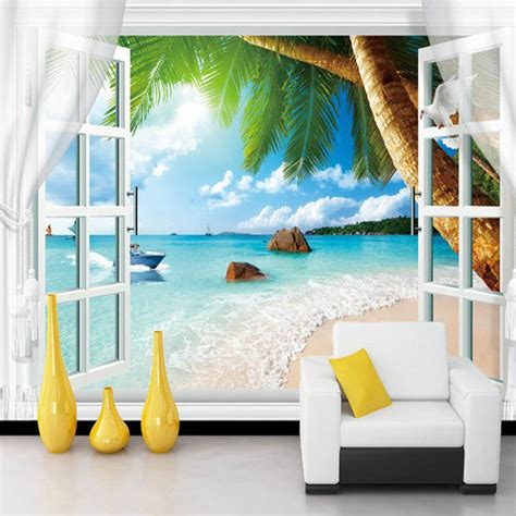 cheap beach home decor online get cheap beach wallpaper murals aliexpress com