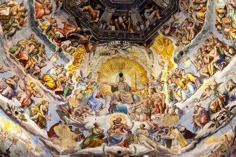 cupola santa fiore firenze fresco on cupola of santa fiore florence italy