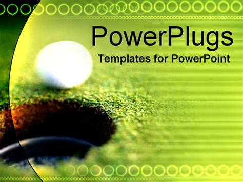 Golf Ball Powerpoint Template Background Of Golf Hole In Golf Powerpoint Templates