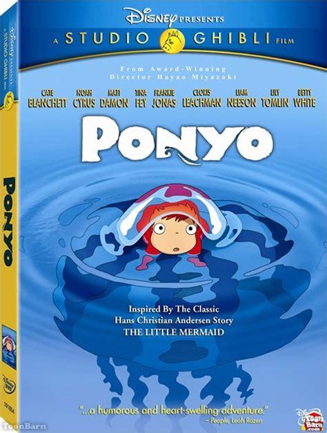 ponyo blu ray slipcover disney brings ponyo to blu ray and dvd toonbarntoonbarn