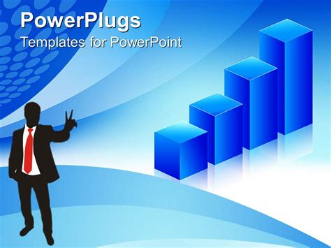powerpoint template man wearing a business black suit