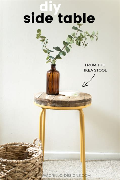 diy industrial side table and the day he finally said no