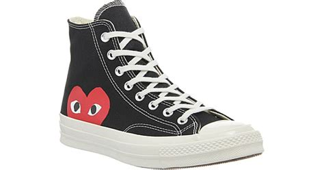 Jual Converse X Cdg comme des gar 231 ons converse high top 70s x play cdg trainers in black lyst