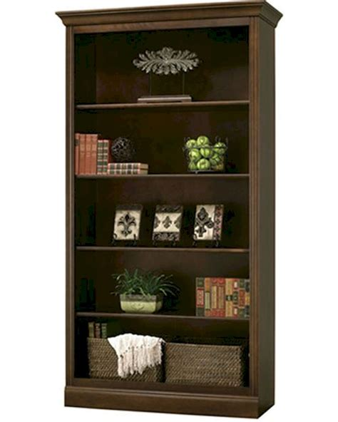 contemporary central bookcase oxford by howard miller hm