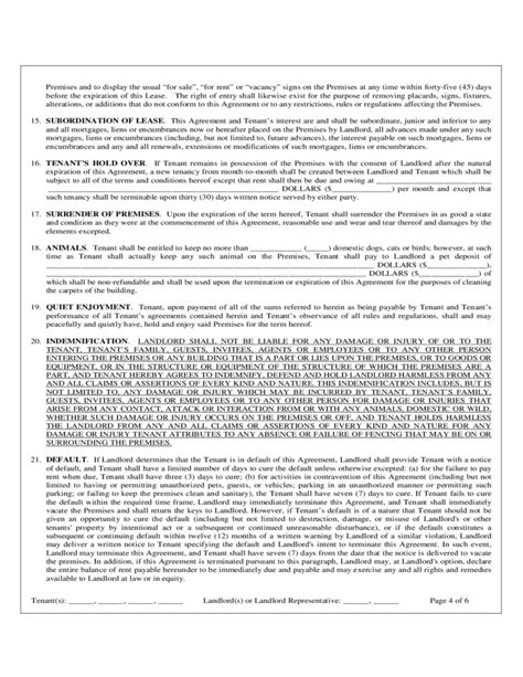 Florida Monthly Residential Rental And Lease Agreement Free Download Florida Month To Month Lease Agreement Template