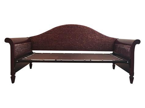 wood amp rattan sleigh daybed chairish