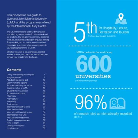 Liverpool Moores Mba World Ranking by Liverpool Moores Ljmu Isc Brochure 2016 Lr