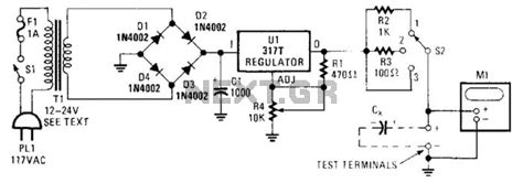 capacitor leakage circuit gt meter counter gt meters gt electrolytic capacitor reforming circuit l14179 next gr