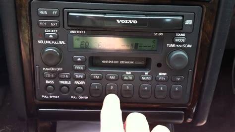 98 volvo s70 radio code volvo sc 901 radio
