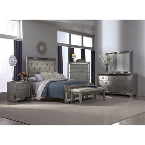 Marais Bedroom Furniture Sets Pieces Macy S Room Mirrored Glass Bedroom Furniture