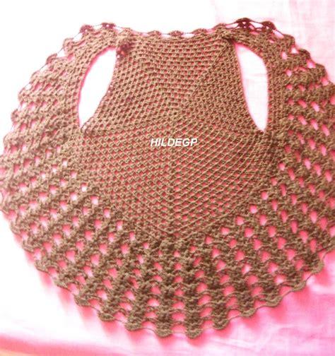 chalecos redondos y rectangulares a crochet mejor de mis manos tejidos y mas chaleco circular tejido al
