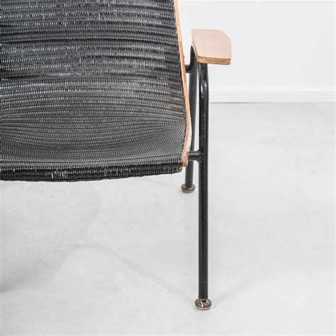lloyd loom armchair lusty lloyd loom armchair in black kraft paper 1950s design market alley cat themes