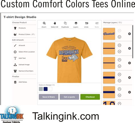 customer comfort custom comfort colors t shirts talkingink design online