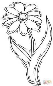 coloring sheets daisy stem coloring pages