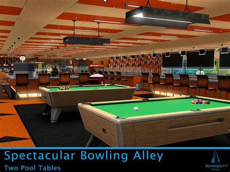 bowling alley with pool mod the sims spectacular bowling alley