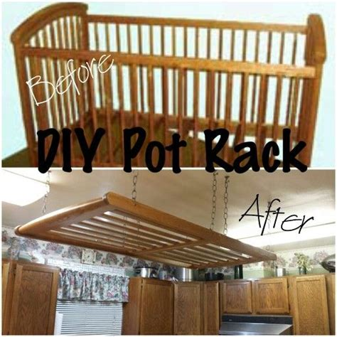 kitchen pot rack ideas diy hanging pot rack diy house decor pinterest pot
