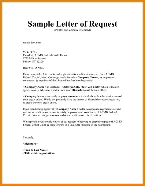 how to write a request letter letter format template