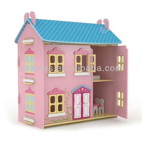 child doll house 2015 funny wooden doll house toy fashion new wooden diy model miniature doll house