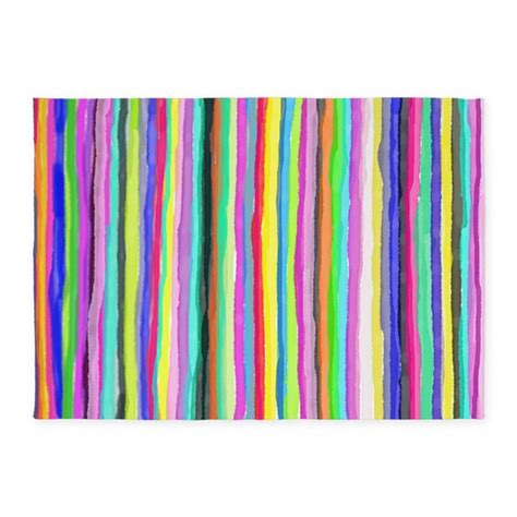 rainbow colored area rugs drippy trippy rainbow 5 x7 area rug by bluesyworld