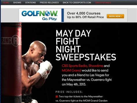 The View 20 Day Vacation Giveaway - cbs sports radio may day fight night sweepstakes